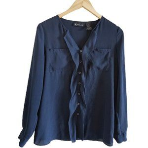 International Concepts INC Ruffle Front Blouse 4